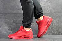 Кроссовки мужские Nike Air Max Hyperfuse в стиле Найк Гиперфус, натуральная кожа, текстиль код SD-7478.Красные