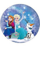 """Харчовий цукровий / вафельний їстівний друк _ лист А4 """"Холодне серце (Frozen)"""""""