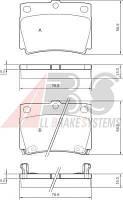 Колодки тормозные MITSUBISHI CHALLENGER/PAJERO SPORT задние (ABS). 37284