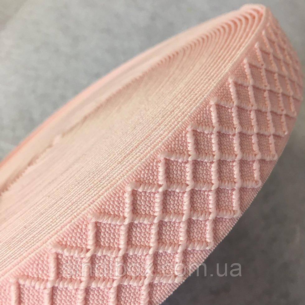 Гумка поясна - 3см/25ярд. світло-рожевий (653-Т-0171)