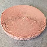 Гумка поясна - 3см/25ярд. світло-рожевий (653-Т-0171), фото 2