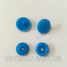 Кнопки пластикові кольорові для дитячого одягу і постільної білизни Т5 Ø 11,7 мм Сині (10 компл.) (SIND-01)