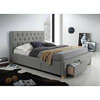 Кровать из ткани Oslo 160*200 95667, цвет - серый