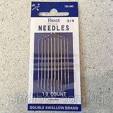 Голки ручні NEEDLES (Голки для ручного шиття) Голки швейні, 43 (657-Л-0015)