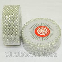 Кравецькі швейні шпильки білі з кулькою (голки для закалывания) (657-Л-0056)
