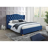 Кровать из ткани Aspen Velvet 160 95379, цвет - синий
