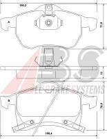 Колодки тормозные OPEL ASTRA/ZAFIRA передние (ABS). 37076
