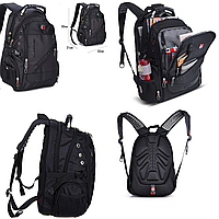 Рюкзак SwissGear Wenger с USB и дождевиком Черный