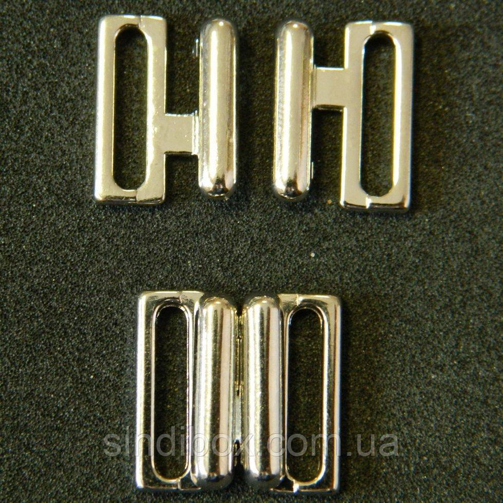 Застежки для купальника, 1,5см металл (хром) (657-Л-0127)