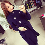 """Женское модное кашемировое пальто в расцветках """"Волна"""" (размеры 42, 44, 46, 48), фото 4"""