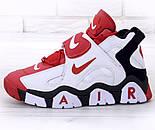 Мужские кроссовки Nike Air Barrage Mid Returning White/Red. Живое фото (Реплика ААА+), фото 2