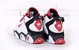 Мужские кроссовки Nike Air Barrage Mid Returning White/Red. Живое фото (Реплика ААА+), фото 3