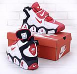 Мужские кроссовки Nike Air Barrage Mid Returning White/Red. Живое фото (Реплика ААА+), фото 5
