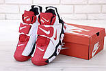 Мужские кроссовки Nike Air Barrage Mid Returning White/Red. Живое фото (Реплика ААА+), фото 7