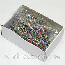 Кравецькі швейні шпильки з кольоровими кульками (657-Л-0079)
