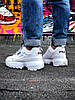 Кроссовки Fila Disruptor 2 женские, белые, в стиле Фила Дизраптор 2, материал - кожа, подошва - пена, код  Z-1263. - Фото
