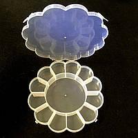 33-Пластиковая тара (контейнер, органайзер) для рукоделия и шитья 15×2.5 см (657-Л-0233)