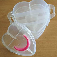 34-Пластиковая тара (контейнер, органайзер) для рукоделия и шитья 15×13.5×12 см 3 этажа (657-Л-0234)