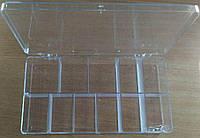 43-Пластиковая тара (контейнер, органайзер) для рукоделия и шитья 21×11.2×3.5 см (657-Л-0242)