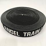 Резинка поясная 3,8см черная-белая с надписью LIKE ANGEL TRAIN (653-Т-0475), фото 3