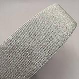 Резинка поясная 5см белая с люрексом серебро (653-Т-0487), фото 3