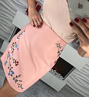 Женская юбка, стильная, пудровая, 211БК-0067-2, фото 1