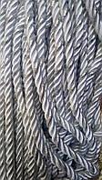 Декоративный шнур для натяжных потолков, БЕЛЫЙ С СЕРЕБРОМ 10 мм (50ярд) (1-2123-08)