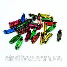 Безпечні шпильки кольорові 3 см - уп. 50 шт. (653-Т-0128)