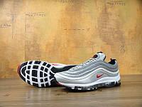 Женские кроссовки Nike Air Max 97, серебристые, кожа, текстиль, в стиле Найк Аир Макс 97, KD-11114. 36
