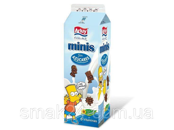 Мини шоколадное печенье без сахара с витаминами Simpsons Arluy 275г  Испания