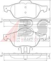 Колодки тормозные RENAULT (GRAND)ESPACE/LAGUNA передние (ABS). 37217