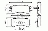 Колодки тормозные MITSUBISHI GRANDIS,PAJERO (Bosch). 0 986 424 717