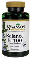 Комплекс витаминов группы В-100 баланс, Swanson Premium, 100 капсул