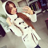 Женское модное кашемировое пальто *Дафлкот* (молочное, черное, темно-синее) (размеры 42, 44, 46, 48, фото 1