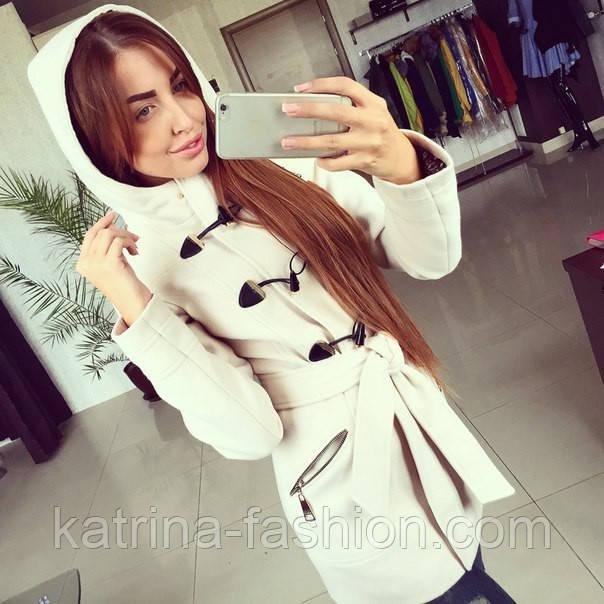 cc2eec60682 Женское модное кашемировое пальто  Дафлкот  (молочное