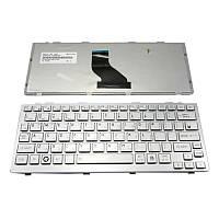 Клавиатура для Toshiba Satellite NB200, NB205, NB250, NB255, NB305 ( RU Silver c рамкой ).
