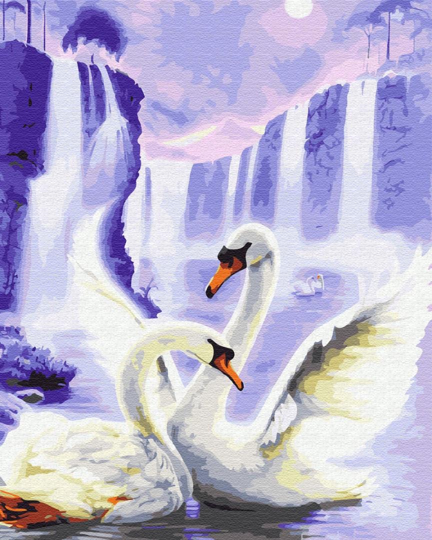 "Картина по номерам. Brushme ""Лебеди под луной"" GX29900"