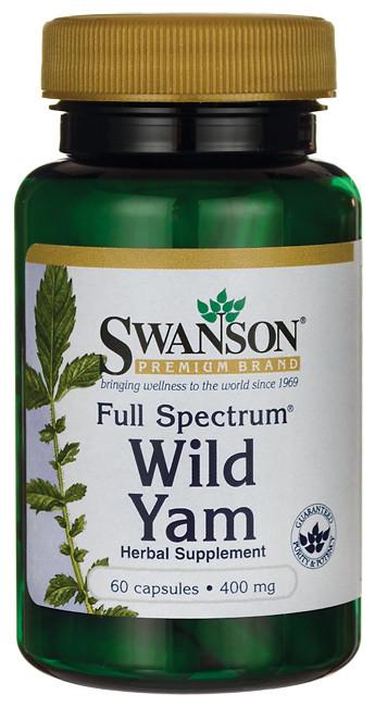 Дикий Ямс полного спектра, 400 мг, 60 капсул, Wild Yam, Swanson Premium - Ситимама.Укр - витамины в Киеве