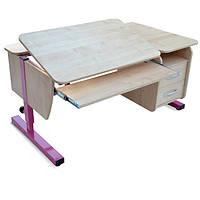 Детская парта растишка стол трансформер Понди Школьник с тумбой из ДСП