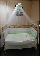 """Постельный комплект (набор в кроватку) для новорожденного 7 единиц """"Я Немовля"""""""