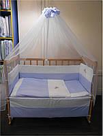 """Постельный комплект (набор в кроватку) для новорожденного 7 единиц """"Я Немовля"""", фото 1"""