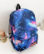 Стильный рюкзак Космос Галактика. Синий