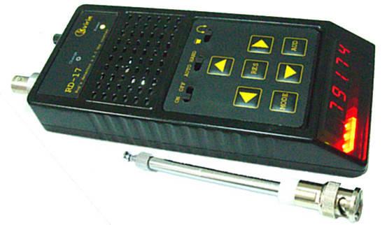 Индикатор RD-17 Детектор для поиска жучков, прослушки с функцией частотомера, фото 2