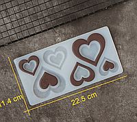 Молд для шоколадного декора  Сердце с розой, фото 1