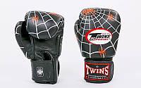 Перчатки боксерские кожаные на липучке TWINS  (р-р 12-16oz, цвета в ассортименте), фото 1