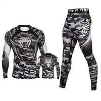 Компрессионный комплект спортивной одежды Venum Cobra mma Венум Кобра рашгард лосины