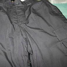 Штаны для спецслужб черные зимние на флисе 50р б/у, фото 3