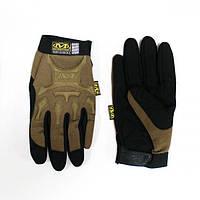 Тактические перчатки MECHANIX с пальцами койот