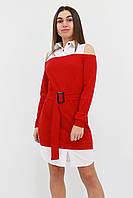 S, M, L | Комбіноване жіноче плаття Lilit, червоний