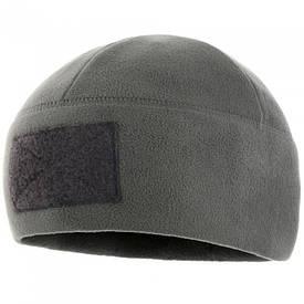 M-Tac шапка флисовая с велкро Watch Cap Elite серая